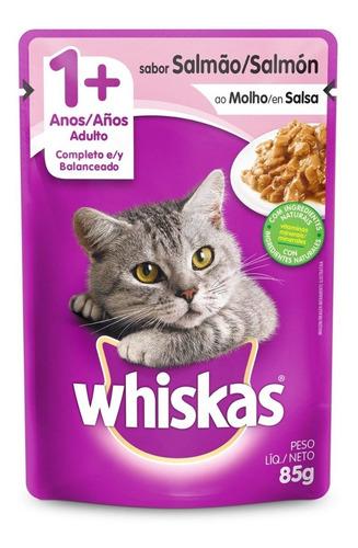 comida gatos whiskas sobres adulto salmón x85gr (packx20un)