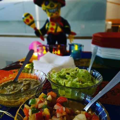 comida mexicana, catering, nachos, tacos, quesadillas