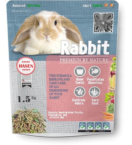comida para conejo adulto 1.5kg - hasen