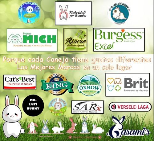 comida para conejos mr luti bunny heno de alfalfa bolsa 1kg