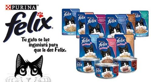 comida para gato sensacion pescado blanco en salsa - felix