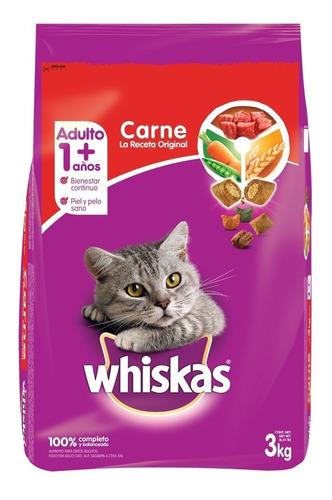 comida para gatos whiskas carne 3 kg - kg a $15042