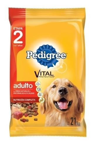 comida perro pedigree adulto 9k carne + galletitas