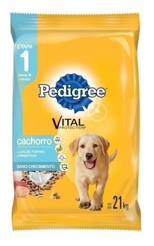 comida perro pedigree cachorro 21k + 1,3kg + snacks