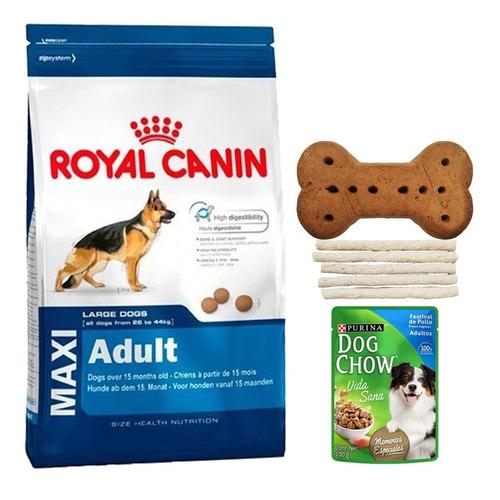 comida perro royal canin maxi adult 15 kg + regalo + envío