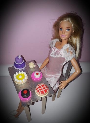 comidas, accesorios para muñecas de acción. barbies.