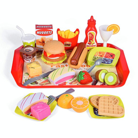 Dog Piezas Juguete Hamburgue Hot De 40 Fun Set Comidita rBCeWdox