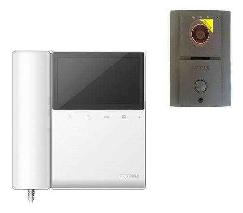 commax cdv43paq2 frente de calle y 2 monitores con auricular