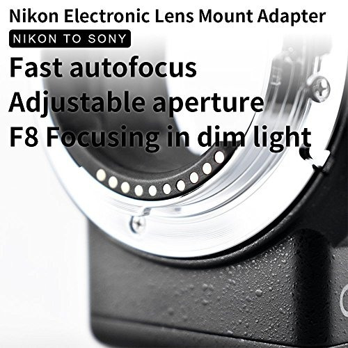 commlite cm-enf-e1 pro nikon f lente de montaje para sony e