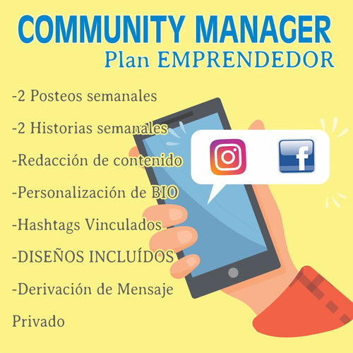 community manager - manejamos tus redes