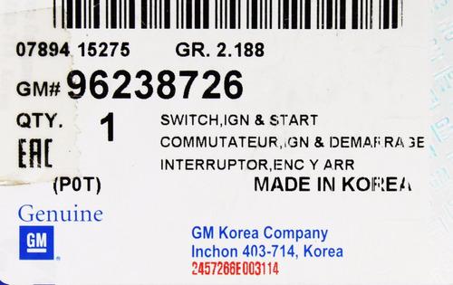 commutador encendido arranque optra aveo g m 96238726