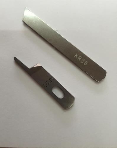 como cambiar las cuchillas de una fileteadora o overlock