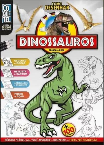 como desenhar dinossauros passo passo ilustrações 100% color