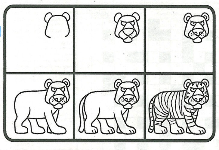 Cómo Dibujar Animales Paso A Paso Para Niños Fácil Aprende