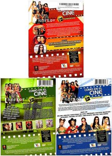 como en el cine paquete de temporadas 1 2 y3 en dvd
