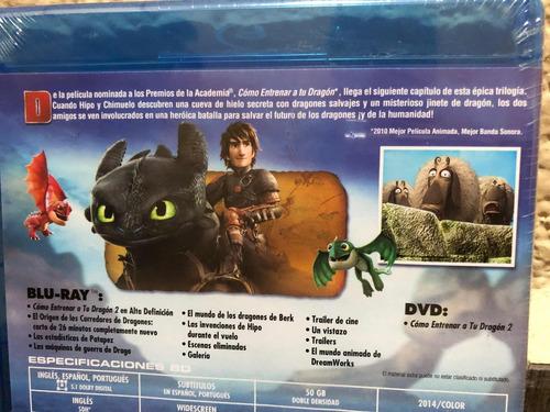cómo entrenar a tu dragón 2 dreamworks blu-ray y dvd