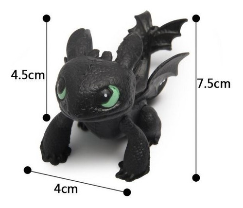 como entrenar a tu dragón: set 8 dragones