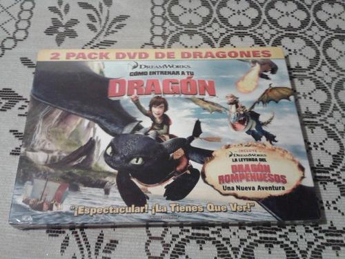 como entrenar a tu dragon y la leyenda del rompehuesos dvd