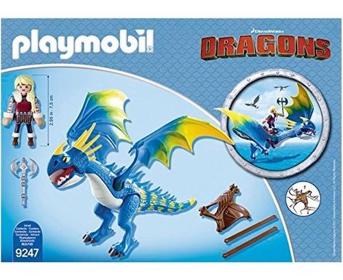cómo entrenar atu dragón astrid y tormenta 9247 - playmobil