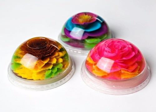 como hacer gelatinas artisiticas 3d florales paso a paso