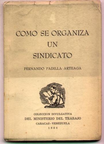 cómo se organiza un sindicato. padilla arteaga (venezuela)