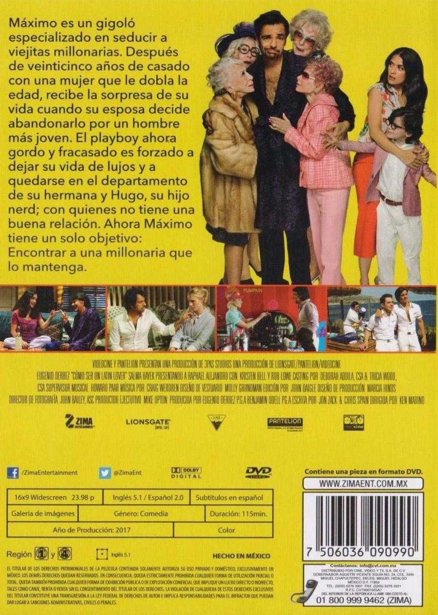 Como Ser Un Latin Lover Eugenio Derbez Pelicula Dvd 18900 En