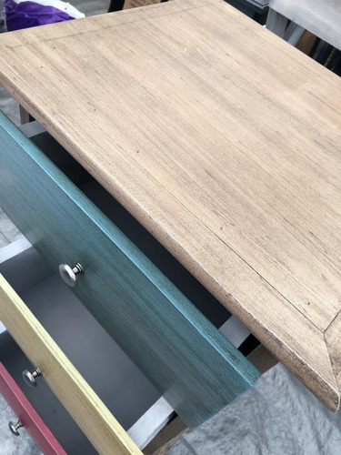 cómoda búro cajonera mueble pino madera maciza con rieles