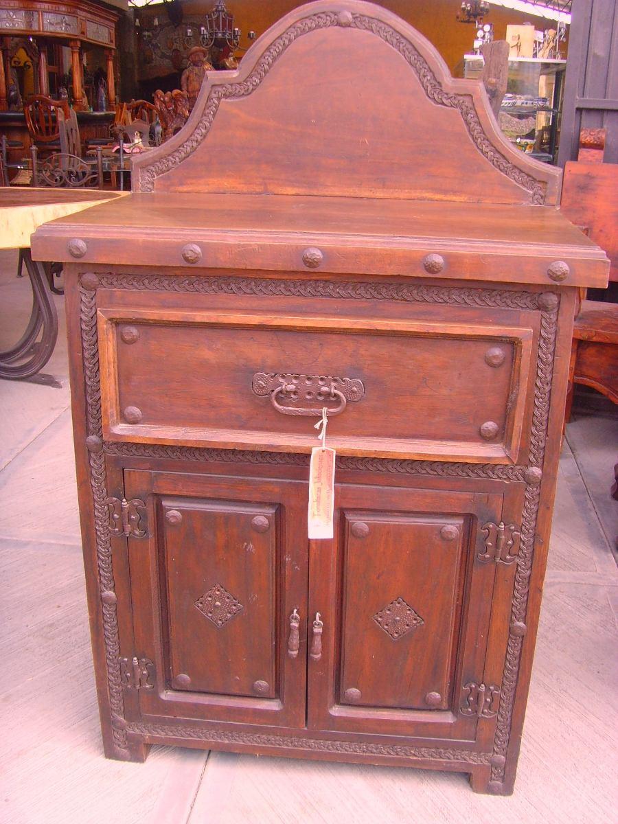 Comoda cajonera de madera de parota y hierro estilo - Cajones de madera antiguos ...