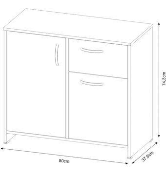 cómoda cajonera practimac niko 74x80x37 cm amaretto