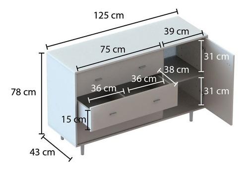 comoda cajonera tipo nordica escandinava 3 cajones 1 mt melamina centro estant cme120