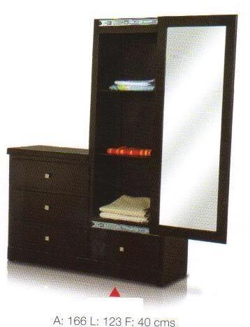 Comoda con espejo y zapateracolor chocolate para su for Espejos para comodas de dormitorio