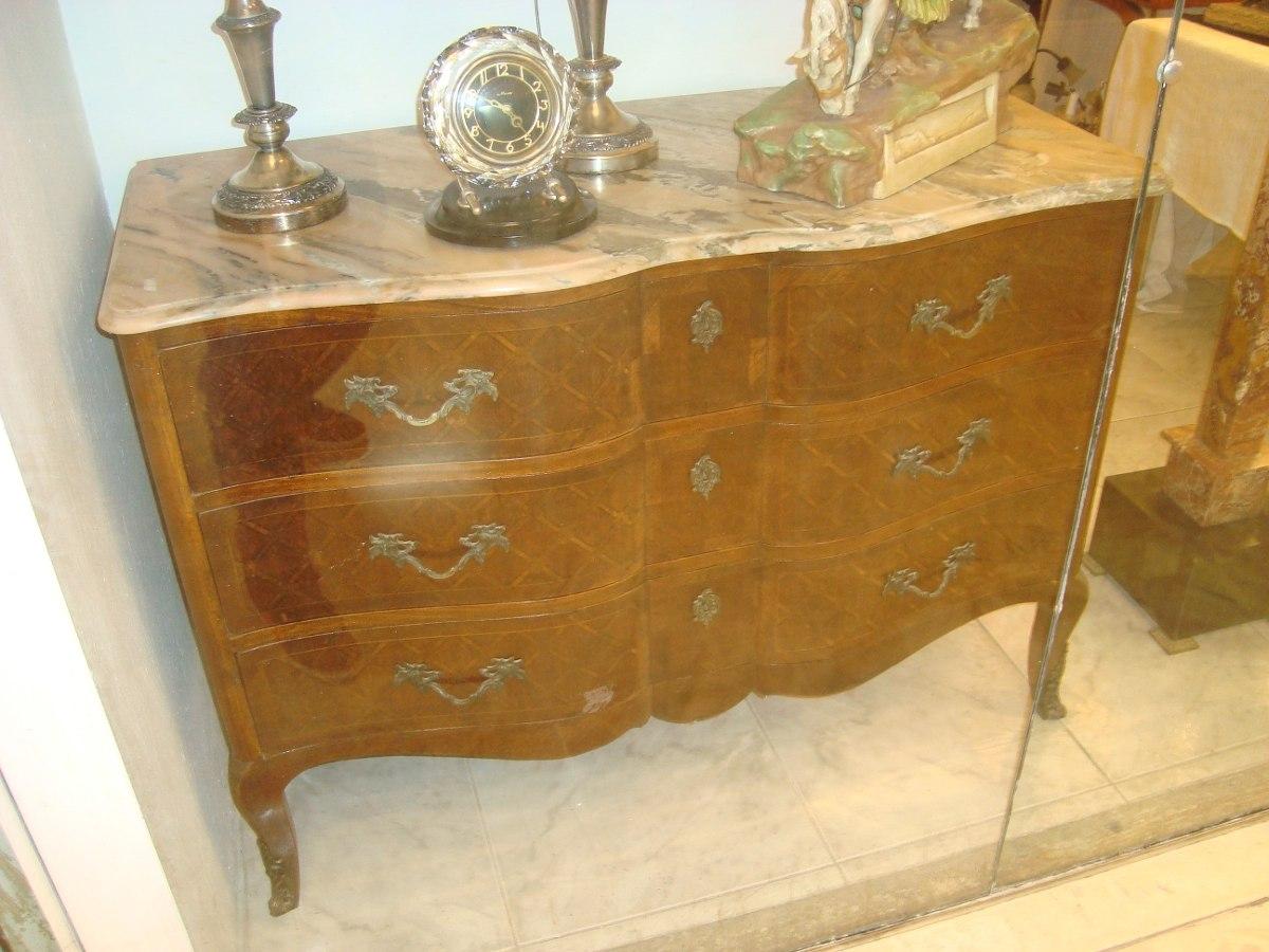 Comoda estilo frances com tampa de marmore perfeito estado - Comodas de estilo ...