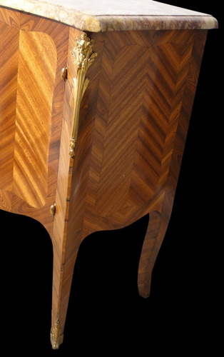 cómoda francesa luis xv madera caoba rubi tapa marmol