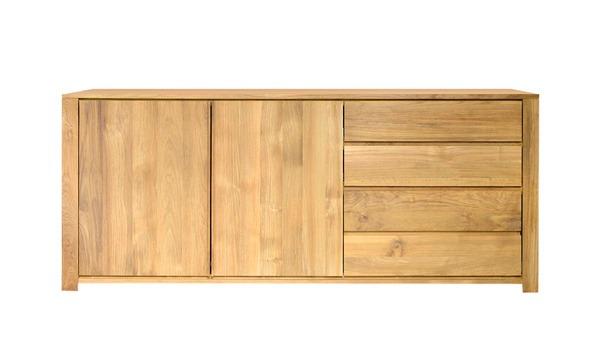 Cómoda Mesa Tv Mueble Madera Moderno Minimalista Cajones - $ 7.199 ...