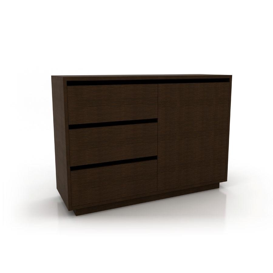 C moda moderna dise o andorra cajonera madera mdf polimob - Comodas diseno ...