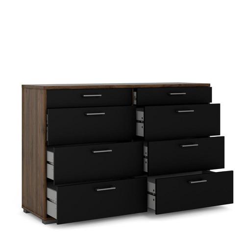 cómoda negra y nogal-70165dj60
