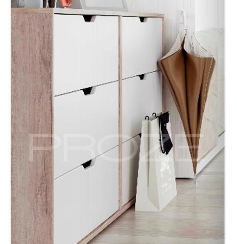 comoda nordica 3 cajones dormitorio madera laqueada