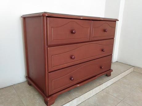 comoda o cajonera en madera de 4 cajones 102x76x52 cm