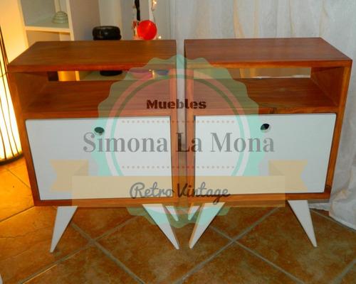 comoda retro vintage + dos mesas de luz