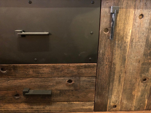 cómoda/buffet alto voltaje de madera nogal