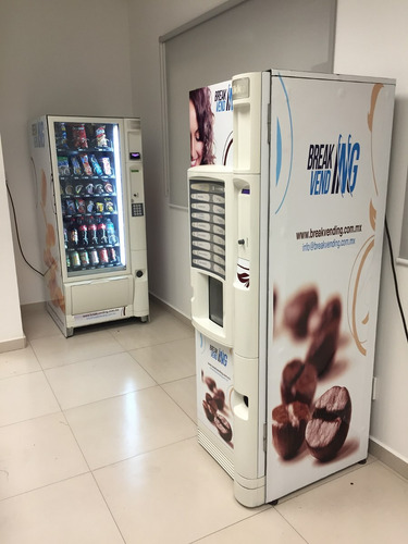 comodato maquinas vending cafe,snack, refresco break vending
