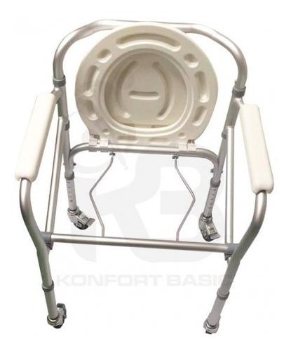 comodo (silla) sanitario en aluminio anodizado kb225cr-al19