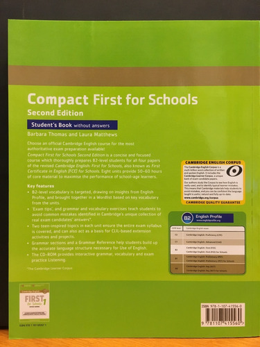 compact first for schools  student s book no key - cambridge