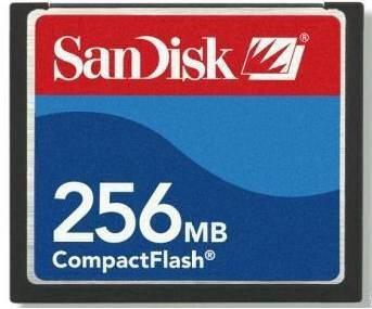 compact flash sandisk 256mb cartão memória