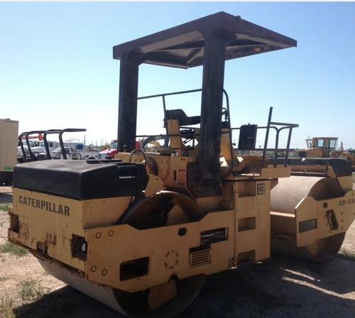 compactador cat cb534 cat vibro doble asfalto aplana /364