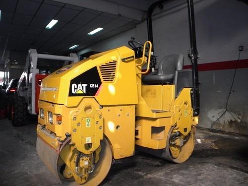 compactador caterpillar cb14 tambor liso