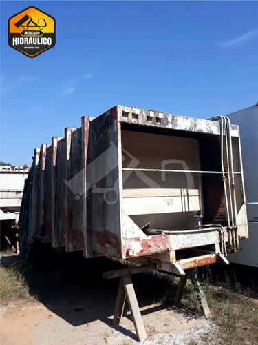 compactador de lixo - equitran 15m³ / 2009