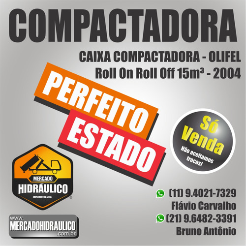 compactadora roll on roll off 15m³ - olifel