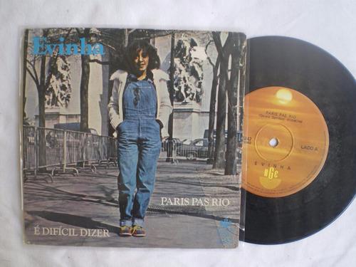 compacto- evinha / é difícil dizer paris pas rio / rge /1980