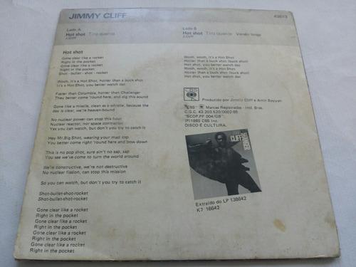 compacto - jimmy cliff - hot shot - 1985 - cbs